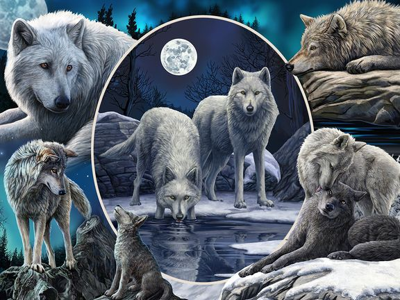 """#Коллаж """"Волки"""" (Collage Wolves)"""